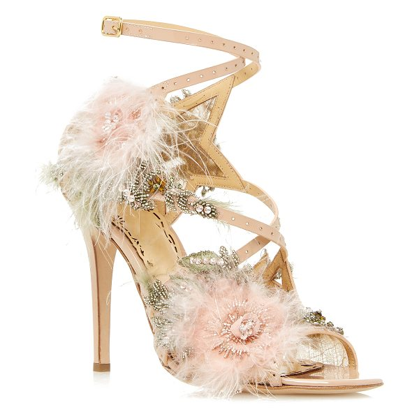 Marchesa Marlene Sandal in pink - This *Marchesa* Marlene sandal is rendered in patent...