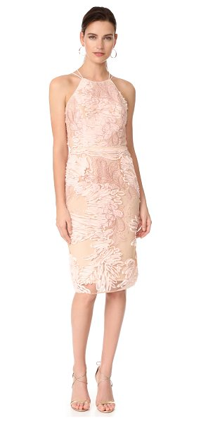 Notte by Marchesa cocktail dress in blush - This elegant Marchesa Notte dress is embroidered with...