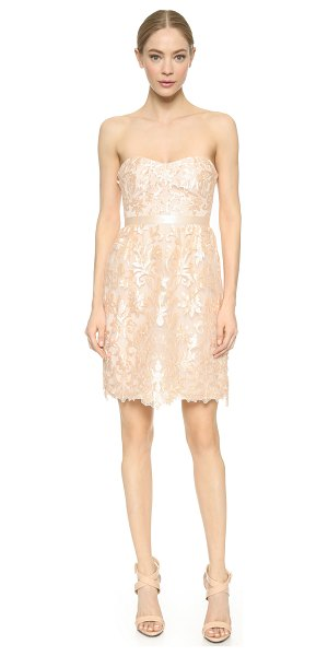NOTTE BY MARCHESA Strapless laser cut dress - Embroidery and laser cut appliqués bring tactile...