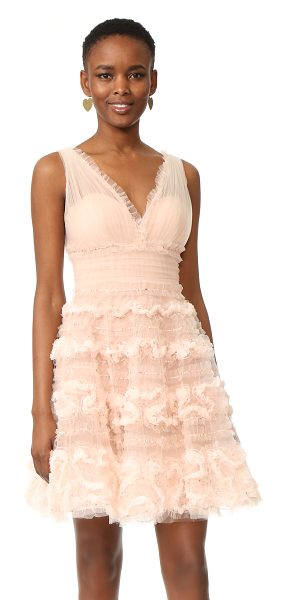 NOTTE BY MARCHESA tulle cocktail dress - Swirled ruffles and scattered sequins accentuate the...