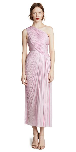MARIA LUCIA HOHAN rosalle dress in lilyrose - Fabric: Metallic weave Pleated Gathered fabric at bodice...