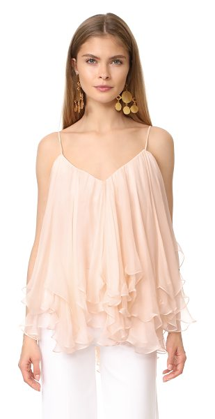 MARIA LUCIA HOHAN sleeveless blouse in powder puff - An airy silk Maria Lucia Hohan blouse with light texture...