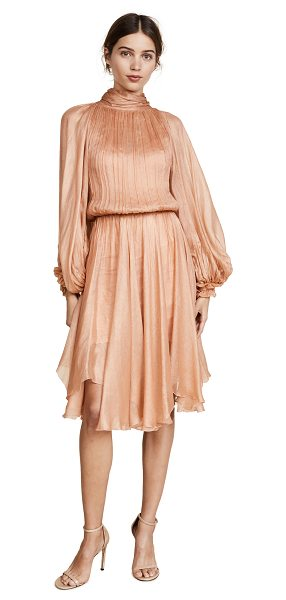 MARIA LUCIA HOHAN tie neck dress - A billowing Maria Lucia Hohan dress rendered in gossamer...