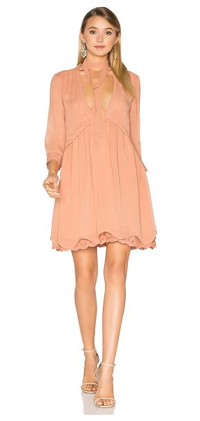"Maria Stanley Madison Dress in blush - ""100% viscose. Dry clean only. Fully lined. Front..."