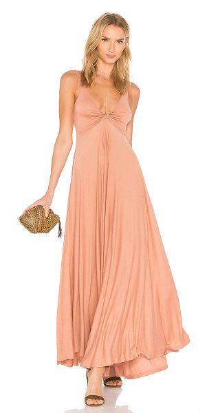 Maria Stanley Zanzie Dress in blush - 70% viscose 30% poly. Dry clean only. Unlined. Cinched...