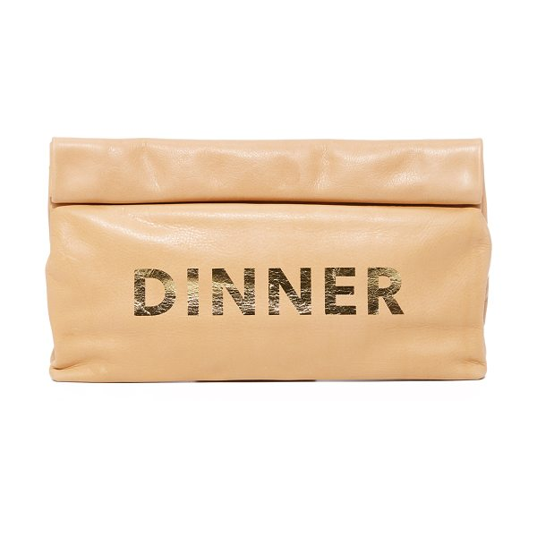 Marie Turnor dinner special clutch in washed brown - A soft Marie Turnor Accessories clutch in wrinkled...