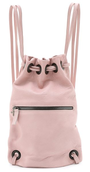 Marie Turnor The mini bak-pak in pink - A pebbled leather Marie Turnor Accessories backpack with...