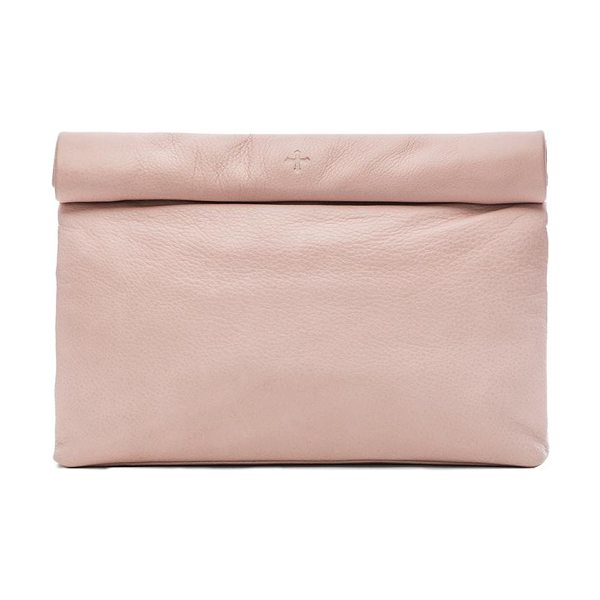 "MARIE TURNOR Lunch clutch - Leather exterior and lining. Measures approx 10"""" W x..."