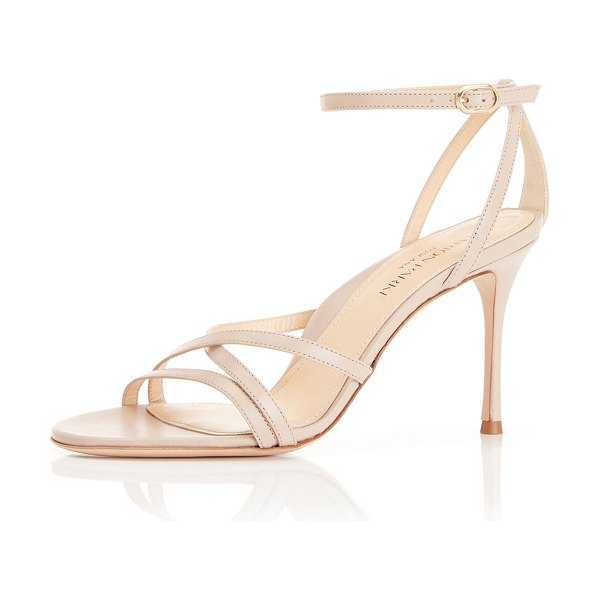 Marion Parke Lillian Strappy Evening Sandals in buff