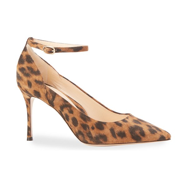 Marion Parke Muse Suede Pointed Pumps in leopard