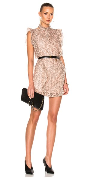 Marissa Webb Alaina Lace Dress in floral,neutrals,pink - Self: 78% polyamide 14% poly 8% elastan - Lining: 100%...