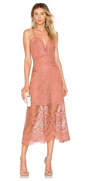 Marissa Webb Dillon Dress in rose - Distinguished lace emanates the refined and feminine...