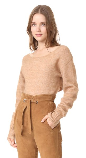 Marissa Webb eliza sweater in camel - A brushed finish complements the luxurious feel of this...