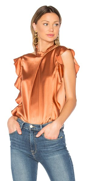 Marissa Webb Sharon Blouse in metallic bronze - Sensuous silk in a billowing silhouette romanticizes the...