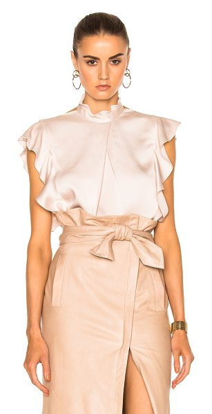 MARISSA WEBB Sharon Satin Crepe Blouse - 72% acetate 28% rayon.  Made in China.  Dry clean only. ...