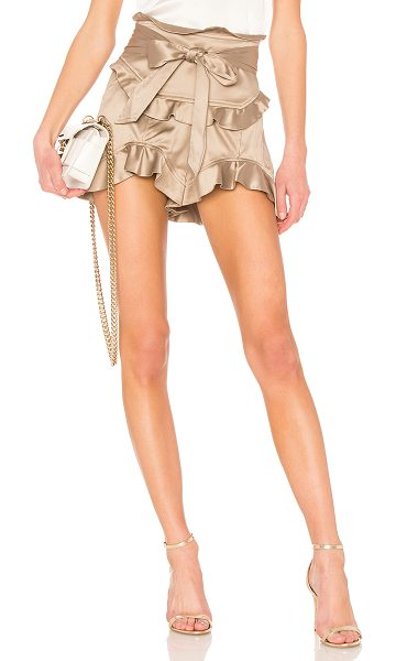 """Marissa Webb Shelby Shorts in taupe - """"Silk blend. Dry clean only. Ruffle trim. Waist tie...."""