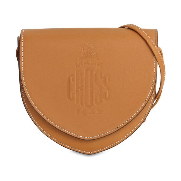 Mark Cross Dunes leather shoulder bag in luggage