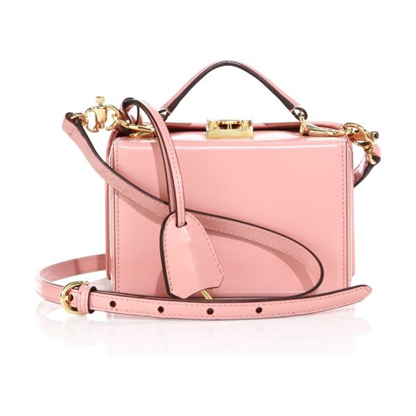 MARK CROSS grace mini leather box crossbody bag in antique rose - Petite, boxy silhouette for styling as a crossbody or...