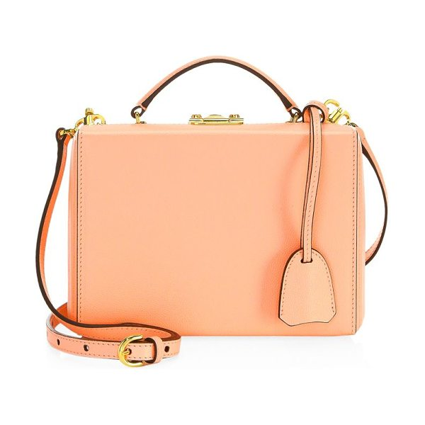 MARK CROSS grace small box leather shoulder bag - Shoulder bag crafted of leather with tonal stitching....