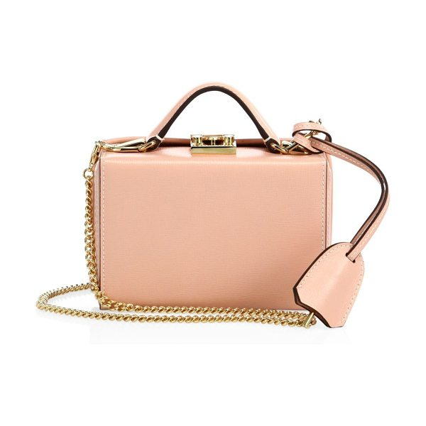 Mark Cross grace small python box crossbody bag in pink - Petite boxy silhouette for styling as a crossbody or...