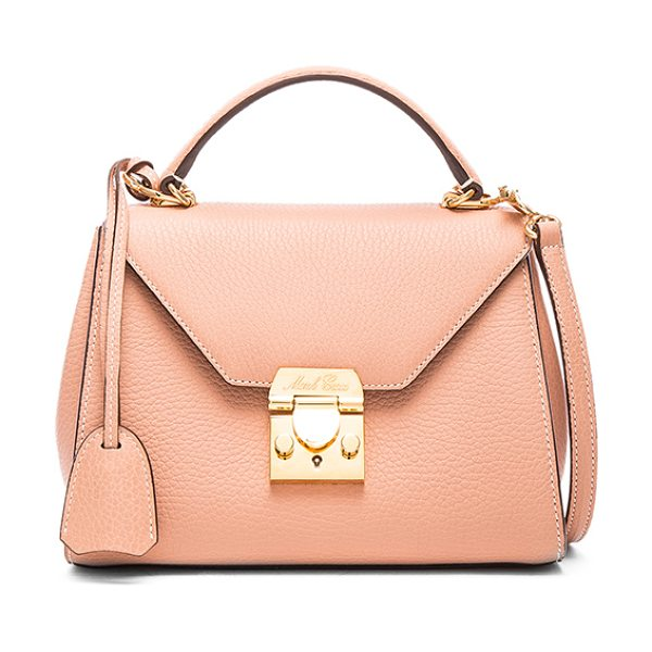 Mark Cross Hadley baby flap bag in pink - Grained leather with twill lining and gold-tone...