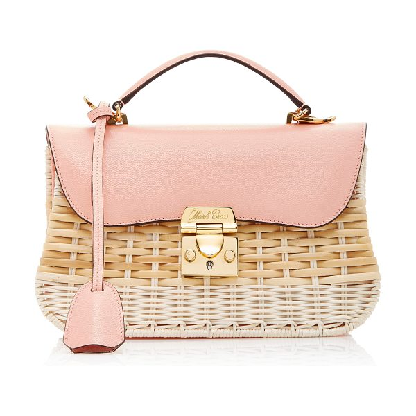 Mark Cross Rattan Dorothy Bag in pink - This *Mark Cross* 'Dorothy' bag is rendered in rattan...