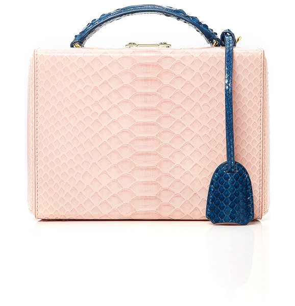 Mark Cross x Chelsea Leyland Python Chelsea Leyland Exclusive Small Grace Box in pink - This *Mark Cross* Grace bag is brought to you by Chelsea...