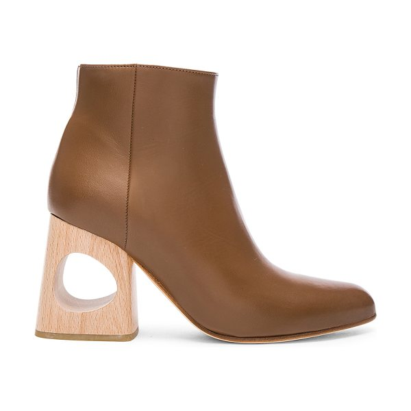 Marni Ankle Boots in cigar - Leather upper and sole. Made in Italy. Approx 75mm/ 3...