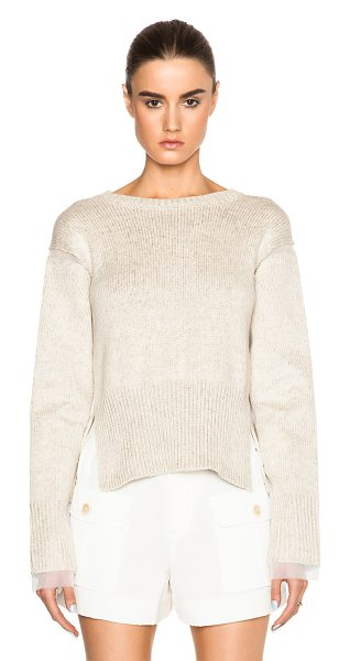 MARNI Crew neck sweater - 42% cotton 32% flax 26% polyamide.  Made in Italy.  Knit...