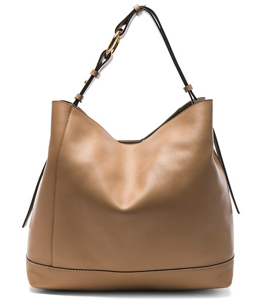 Marni Shoulder Bag in dune - Calfskin leather with raw lining and gold-tone hardware....