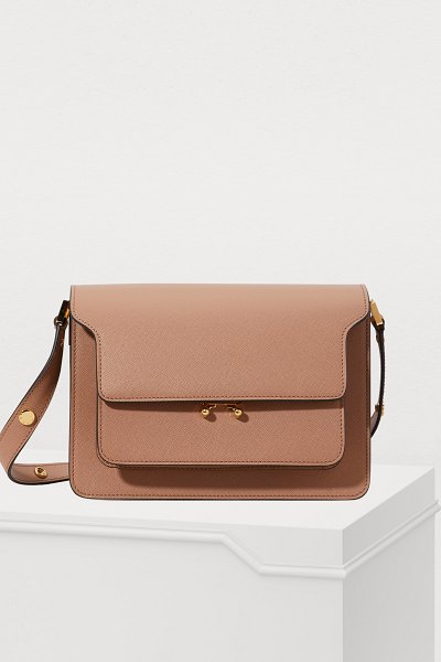 Marni Trunk medium bag in brown sugar