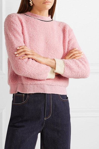 Marni wool-blend fleece sweater in pink - When it comes to Marni, it's safe to expect pieces...