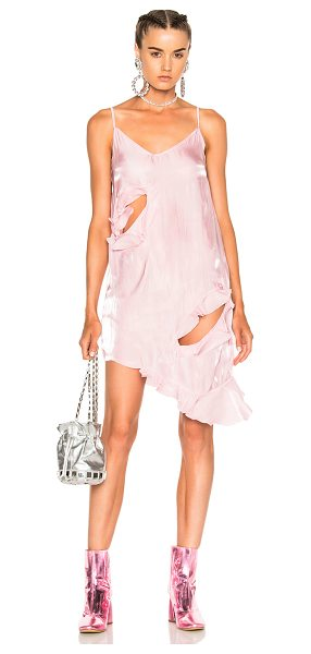 MARQUES ALMEIDA Slip Dress in pink - 100% poly. Made in Portugal. Hand wash. Unlined....