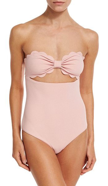 "Marysia Swim Antibes Scalloped One-Piece Swimsuit in pink - Marysia ""Antibes"" one-piece swimsuit in solid..."