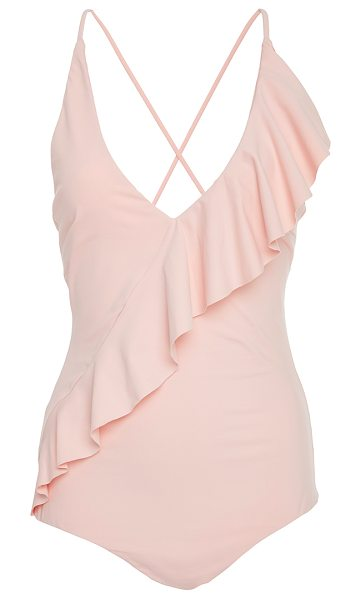 Marysia Swim Palisades Ruffle Maillot in pink - This *Marysia Swim* Palisades Ruffle Maillot features a...