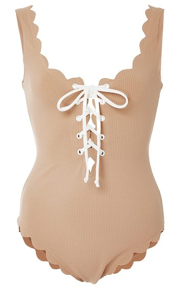 Marysia Swim Palm Springs Tie Maillot in nude - This *Marysia Swim* Palm Springs Tie Maillot features a...