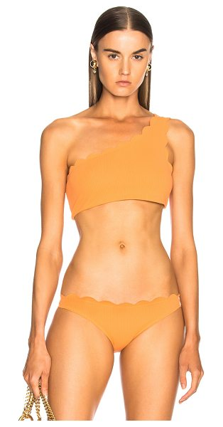 Marysia Swim Santa Barbara Bikini Top in orange - 88% polyamide 12% elastan.  Made in China.  Hand wash. ...