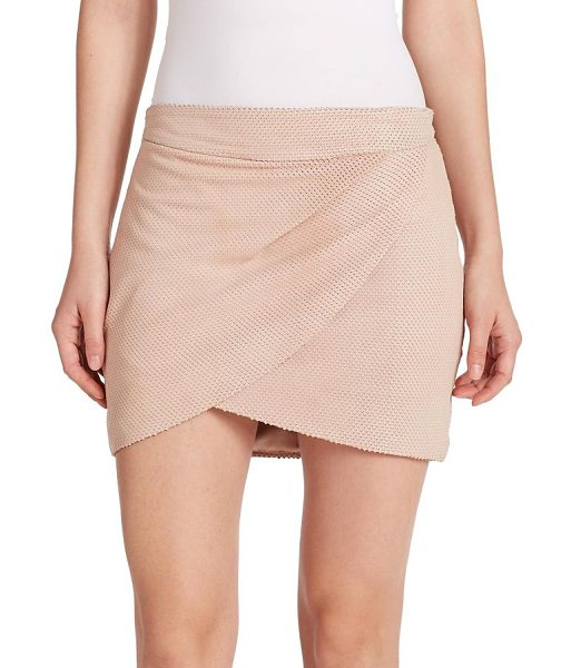 MASON BY MICHELLE MASON Draped silk mini skirt in petal - A draped, front wrap design perfectly compliments the...