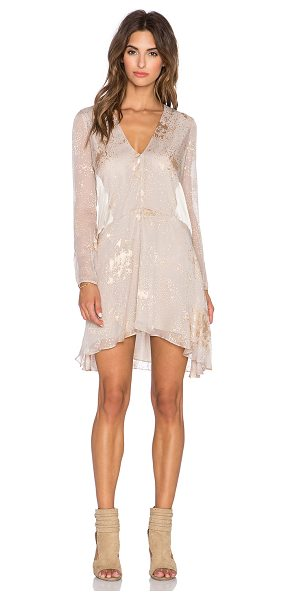 Mason by Michelle Mason Long sleeve mini dress in blush - 100% silk. Dry clean only. Lined. Back keyhole with...