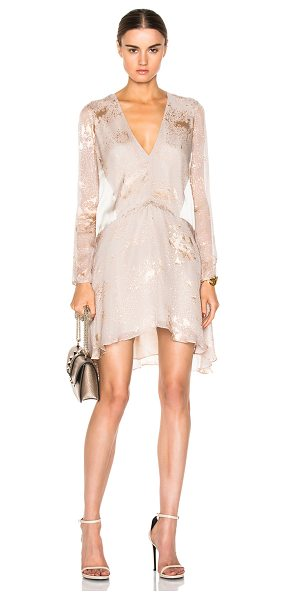 Mason by Michelle Mason Mason by  mini dress in neutrals - 100% silk.  Made in China.  Fully lined.  Burnout...