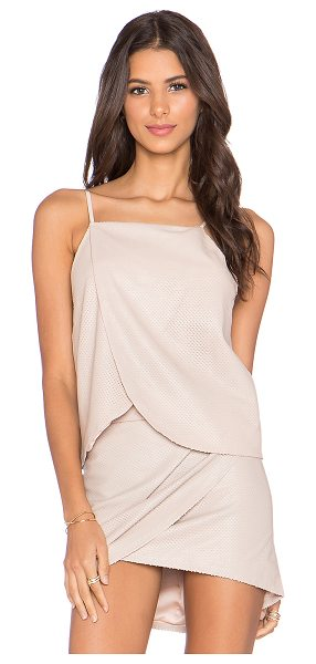 Mason by Michelle Mason Wrap halter cami in blush - Self: 100% lambskinLining: 100% poly. Professional...