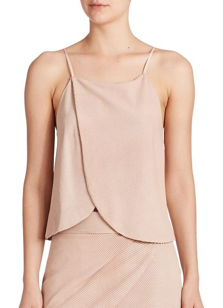MASON BY MICHELLE MASON Wrap leather tank top - With a swingy front panel, an allover textured feel and...