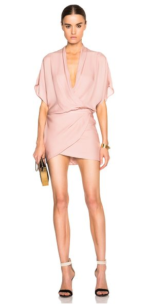 MASON BY MICHELLE MASON Mason by  wrap mini dress - 100% silk.  Made in China.  Partially lined.  Fabric...