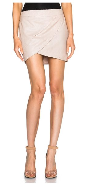 Mason by Michelle Mason Mason by  wrap mini skirt in neutrals - Self: 100% lambskin leather - Lining: 100% poly.  Made...