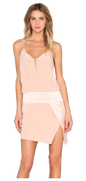 Mason by Michelle Mason x REVOLVE Exclusive Cami Mini Dress in blush - 100% silk. Dry clean only. Fully lined. Neckline...