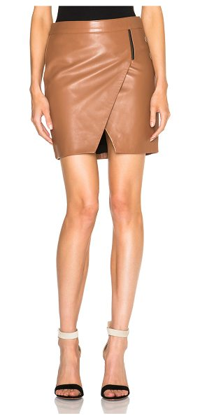 MASON BY MICHELLE MASON Mason by  zipper skirt - Self: 100% lambskin leather - Lining: 100% poly -...