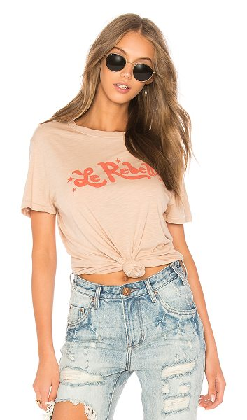 MATE THE LABEL Beau Crew Le Rebelle - Cotton blend. Burnout fabric. Front screen print...