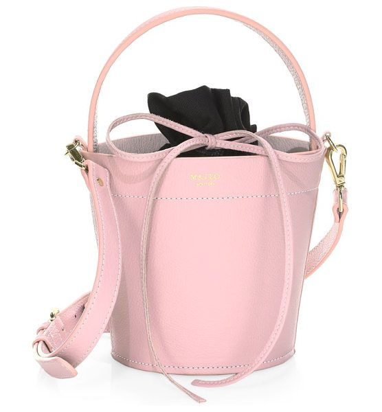 Mateo New York the madeline bucket bag in pink - From the Saks It List: The Bucket Bag. Structured bucket...