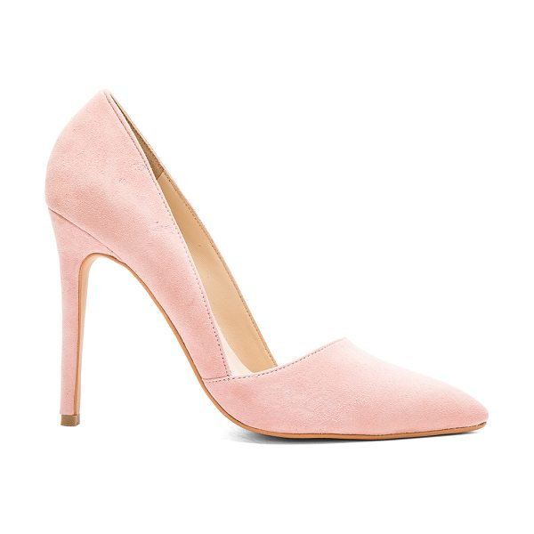 Matiko Bette Heel in blush - Suede upper with man made sole. Asymmetrical detail....