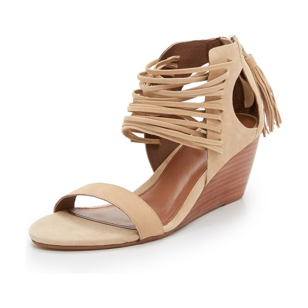 Matiko Bryn strappy wedge sandals in light brown - Delicate straps weave through the front of these cutout,...